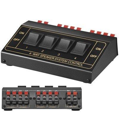 Goobay Lautsprecher-Umschaltbox bis 4 Lautsprecher
