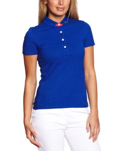 Club Green Eagle Script Polo à manches courtes pour femme Bleu - Bleu canard