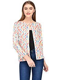 SKiDlers Women/Girl's Summer Cotton Floral Printed Shrugs/Women's Cotton Printed Front Open Full Sleeve Cape Shrug