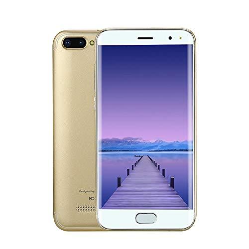 Prevently P113 Smartphone 5,0 Zoll Doppel-SIM 6.0 VOLLER Schirm Screen WiFi Bluetooth GPS 3G Anruf-Handy 32GB interner Speicher (Gold)