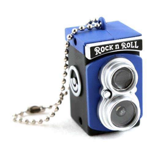 Mini Kamera-Blitz Gadget Schlüsselanhänger Taschenlampe / Ornament-Blau