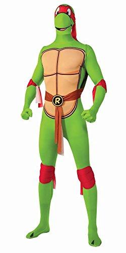 2nd Skin Overall TMNT Ninja Turtles Raphael Karneval Fasching Gr.XL