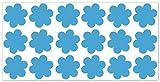 wandfabrik - Fahrradaufkleber 18 Blumen in babyblau
