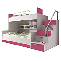 Ye Perfect Choice BUNK BED TALA for 2 children, FUNCTIONAL DESIGN, HIGH GLOSS INSERTS