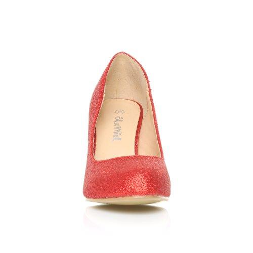 ... Pearl Damen Pumps Stöckelschuhe Rot Glitter Glitzer Stilettos Hoher  Absatz Klassische Pumps rojo - Red Glitter d75e79ff10