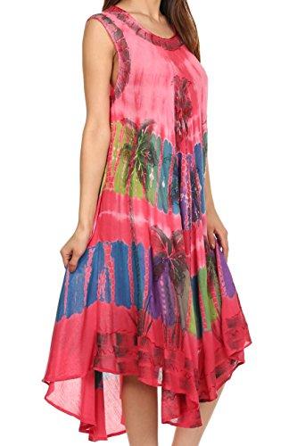 Sakkas Tasanee Kaftan-Behälter-Kleid / Vertuschung Koralle