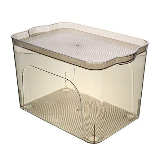 NJ Caja de Almacenamiento- Caja de Almacenamiento plástica Transparente de la Ropa,...