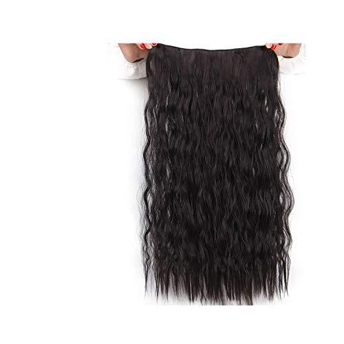 Harla 5 Clips Kunsthaar Lange Gerade Blonde Clip in Haarverlängerungen Falsche Haarteile für Frauen 2 22 zoll -