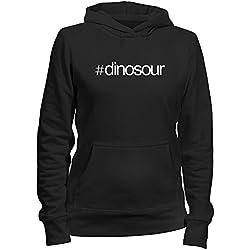 Idakoos Hashtag Dinosour - Dinosaurios - Sudadera con capucha para mujer
