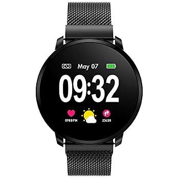 Smartwatch Fashion para Hombre Mujer Impermeable Reloj Inteligente ...
