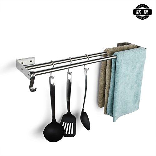 In acciaio inox doppia cremagliera bagno hardware accessori bagno asciugamano
