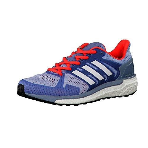 adidas Supernova St W, Chaussures de Tennis Femme, Tacblu/Silvmt/Eneblu, Blau/Türkis, Blau,Blau/Rosa, Misura Standard Bleu (Azusen/ftwbla/corsen)