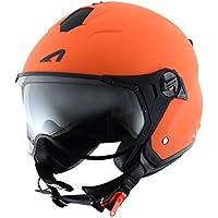 Astone Helmets MINISPORT-MORXXL Minijet Sport - Casco de motocicleta, Naranja Mate, XXL