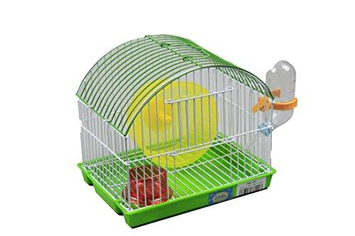 DZL Cage à hamster 21,5 x 16 x 19 cm Bleu vert orange et rouge au choix sinon couleur aléatoire