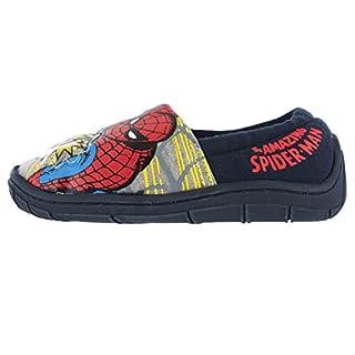 Boys Marvel Avengers Spiderman Lights Slippers Shoes Navy Blue Toddler Children (Spiderman 'Buchanan' Blue/Navy) (UK 8 (toddler))