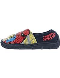 Zapatillas para niño Avengers Marvel Spiderman con Luces, Azul Marino para niños de 7 a 3 años