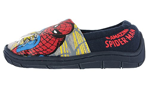 Spiderman Buchanan Flashing Print Blue &Red Slippers Size 8