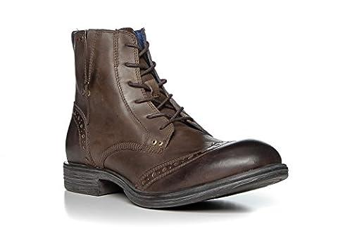 Replay Herren Stiefelette Glattleder Modischer Schnuh Unifarben, Größe: 44, Farbe: Braun