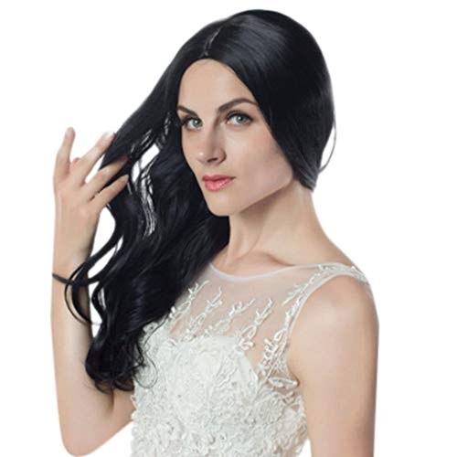 Kostüm Haar Lockiges Big - Setsail Damen mode sexy big welliges lockiges haar flauschig realistisch schwarz lange gewellte Haare Kostüm Party Karneval Cosplay Verkleidung