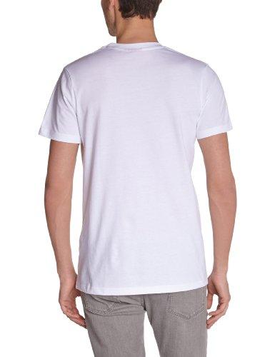 Angry Birds Herren T-Shirts  T-shirt manches courtes, Rundkragen Weiß