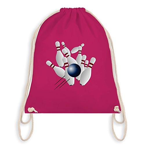 Bowling & Kegeln - Bowling Strike Pins Ball - Unisize - Fuchsia - WM110 - Turnbeutel & Gym Bag