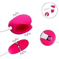 Goods-Store-UK Dual Vibrating Egg for Penis Vibrator Anal Vibrator Sex Toys for Men Cock Stimulator Adult Sex Products Male Masturbator,Rose Red