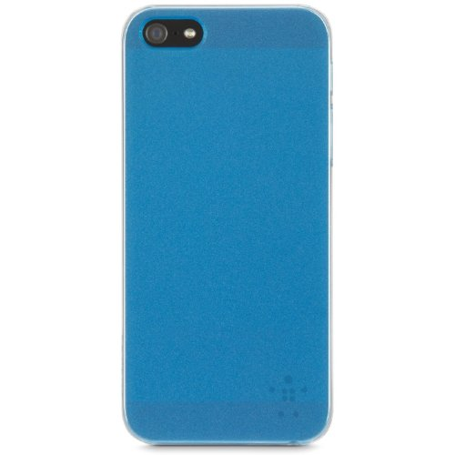 Belkin 2013 Translucent Polycarbonate Ultra Thin Case with Metallic Painted Back for iPhone5 - Pink Blue