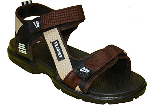ABS Men's Brown Synthetic Sandals & Floaters (SAND-HYP-BR-09) - (9)  available at amazon for Rs.349