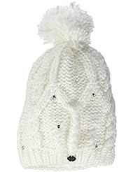 Roxy Tonic Beanie - Gorro con pompón para mujer, color blanco, talla única
