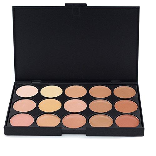 JasCherry 15 Colores Corrector Camuflaje Paleta Maquillaje