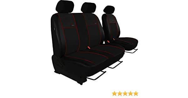2er Beifahrersitzbank Design ECO-Line Hier mit Bordeaux Lamelle Ma/ßgefertigte Sitzbez/üge Fahrersitz