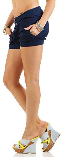 malito Damen Hotpants in Unifarben   lockere kurze Hose   Bermuda für den Strand   Pants