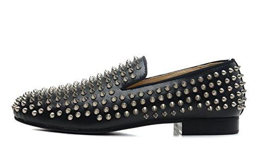 saman-chaussures-unisexe-pissenlit-veau-velours-pissenlit-pics-en-cuir-noir-casual-travail-flaneur-s