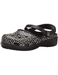 crocs Girl's Karin Leopard Clogs