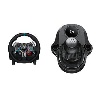 Logitech G29 Racing Lenkrad + Logitech Driving Force Shifter Schalthebel