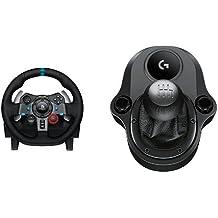 Logitech - Volante para simulación de carreras G29 + Palanca de cambios (PC, PS4 y PS3)