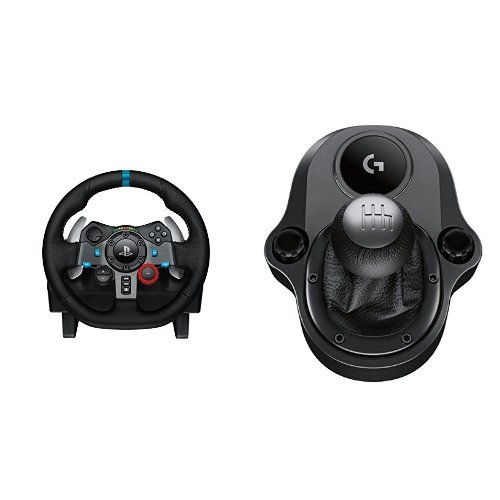 Logitech G29 Racing Lenkrad + Logitech Driving Force Shifter Schalthebel