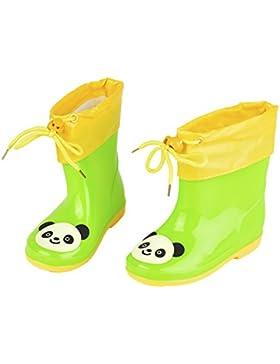Luerme Botas de Agua para Niños Botas de Lluvia con Capa Espesada Desmontable para Otoño e Invierno Zapatos Impermeable...