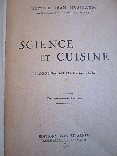 Science et cuisine par Nussbaum J. Dr