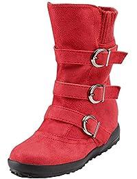 Logobeing Tacones Mujer Plataforma Zapatos Botines de Tacon Mujer Invierno Cómodo Moda 2018 Botas Altos Cuña Zapatos de Tacón Mujer-07121