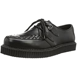 Demonia CREEPER-602 EU-CREEPER-602/B/LE - Zapatos para Hombre, Color Negro, Talla 44