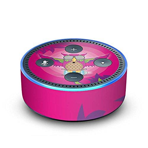 DeinDesign Amazon Echo Dot 2.Generation Folie Skin Sticker aus Vinyl-Folie Owl Eule Pink