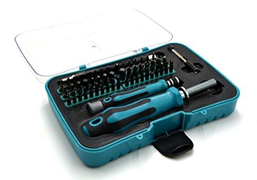 Preisvergleich Produktbild ACENIX Universal Reparaturset 57-in-1austauschbar Professionelle Hardware Schraube Treiber Werkzeug für Handy Elektronische, Kameras Uhren