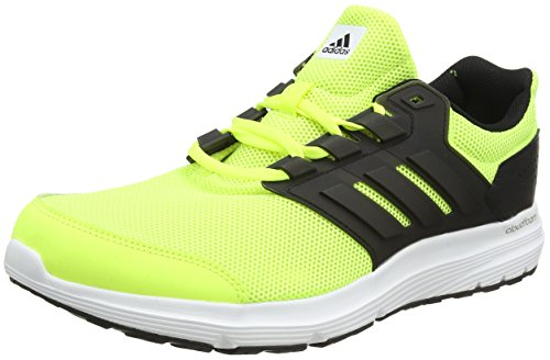adidas Galaxy 4, Chaussures de Running Entrainement Homme Multicolore (Solar Yellow/core Black/core Black)