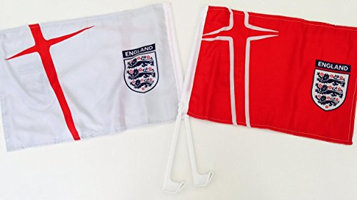 England FA oficial Bandera Euro 2016 HOME& AWAY CAR FLAG