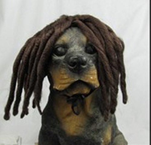 PET-Perücken Kostüme Lustige Puppy Long Braid Perücken (Braun) (Erwachsene Tornado Kostüme)