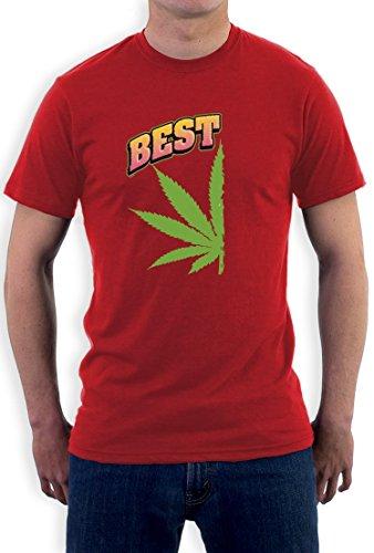 Best Buds Hanf Linkes Paarmotiv für gute Freunde T-Shirt Rot