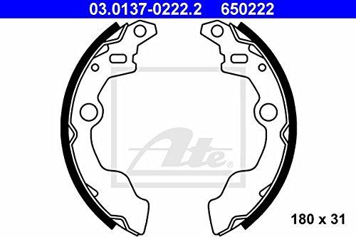 Preisvergleich Produktbild ATE 03013702222 Bremsbackensatz Trommelbremse