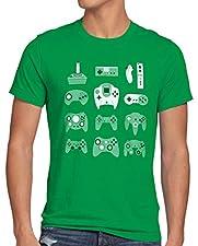 style3 Manette de jeu T-Shirt Homme game pad contrôleur vidéo console jeux, Taille:M;Couleur:Vert