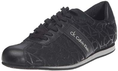 Calvin Klein Gene Metal Mesh/Rubber Ck/Action Leather, Baskets mode hommes - Noir (Blk), 46 EU